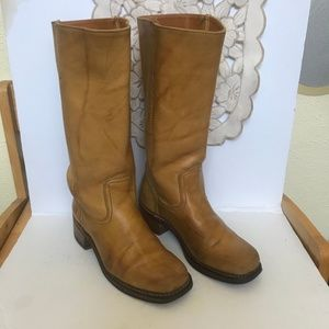 Frye women's Camel Colored boots with 1 ½ heel